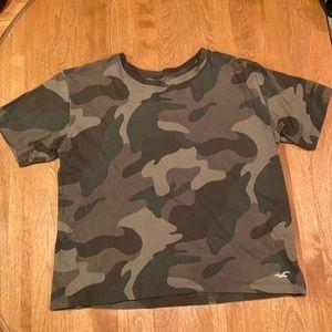 Hollister Camo Crop T shirt